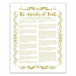 Organic Articles of Faith - Gold - Printable