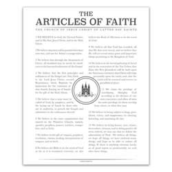 Temple Stamp Articles of Faith - Charcoal - Printable articles of faith posters, articles of faith, organic articles of faith, articles of faith printable