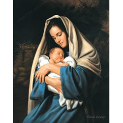 In The Arms Of Mary - Print