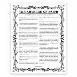Filled Leaf Articles of Faith - Black - Printable