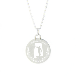 Alabama Mission Necklace - Silver/Gold alabama lds mission jewelry