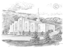 Albuquerque New Mexico Temple - Sketch