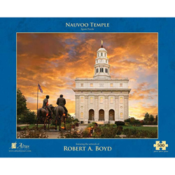 Nauvoo Temple Sunset Puzzle