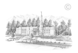 Anchorage Alaska Temple - Sketch