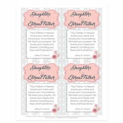 Ministering Handout - Daughter - Printable lds visiting teaching method, lds visiting teaching handout, lds relief society message handout