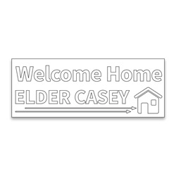 Personalized Coloring Missionary Banner - Arrows