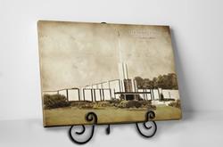 Atlanta Temple - Vintage Tabletop