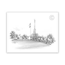 Atlanta Georgia Temple - Sketch