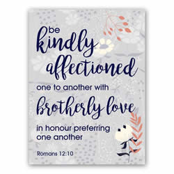 Romans 12:10 - Printable lds visiting teaching method, lds visiting teaching handout, lds relief society message handout