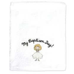 My Baptism Day Towel - Blonde Girl baptism, baptism towel, lds baptism towel