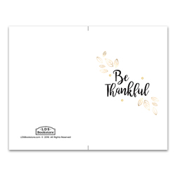 Gold Thankful Program Cover - Printable