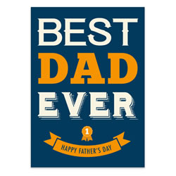 Father's Day Card - Best Dad - Printable free father's day card, fathers day card, printable fathers day card, free downloadable fathers day card