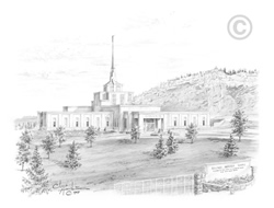 Billings Montana Temple - Sketch