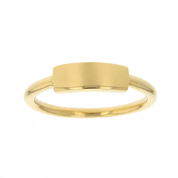Customizable Bar Ring - Gold - LDP-RNGBR1039