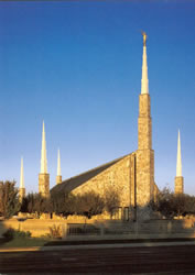 Boise Idaho Temple During the Day - Print