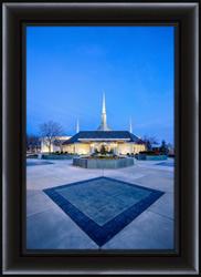 Boise Temple Evening - Framed