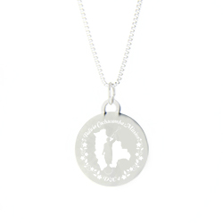Bolivia Mission Necklace - Silver/Gold bolivia lds mission jewelry