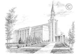 Boston Massachusetts Temple - Sketch