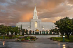 Bountiful Utah Temple - Clearing Storm
