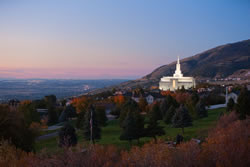 Bountiful Utah Temple - Valley Evening