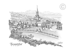 Bountiful Utah Temple - Sketch