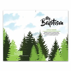 Boy's Trees Baptism Program Cover - Printable