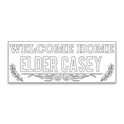 Personalized Coloring Missionary Banner - Branches
