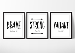 Brave Strong Valiant - Printable