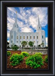 Brigham City Temple Morning - Framed