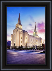 Brigham City Temple Sunrise - Framed - D-LWA-SJ-BTFS-8D16074