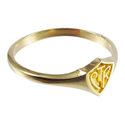 Mini CTR Ring - 14kt Gold