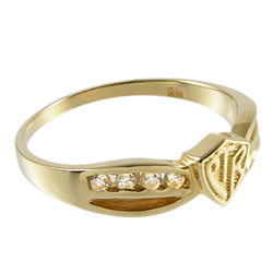 Bow CTR Ring - 14kt Gold