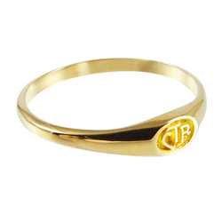 Micro Mini CTR Ring - 14kt Gold