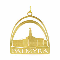 Palmyra Temple Ornament - 24K Gold Plated