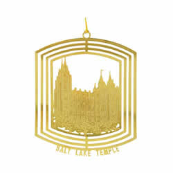 Salt Lake Temple Ornament - 24K Gold Plated