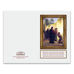 Carl Bloch Christ Healing Blind Man Program Cover - Printable lds program cover, lds printable program cover