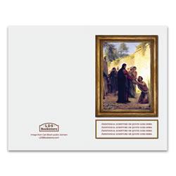 Carl Bloch Christ Healing Blind Man Program Cover - Printable lds program cover, lds printable program cover