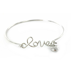 Love the Lord Bracelet - Silver love bracelet, bangle, bangle bracelet