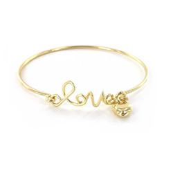 Love the Lord Bracelet - Gold love bracelet, bangle, bangle bracelet