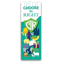 Choose the Right Bookmark lds ctr bookmark, ctr bookmark, 2017 primary theme bookmark, 2017 lds primary theme