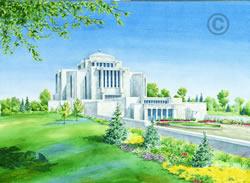 Cardston Alberta Temple - Sketch