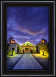 Cardston Temple Sunrise Front - Framed