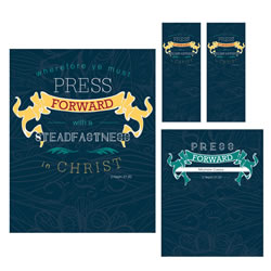 Press Forward Chalk Youth Theme Pack - Printable youth theme pack, lds theme, mutual theme, 2016 lds theme, 2016 youth theme, 2016 mutual theme, lds youth theme