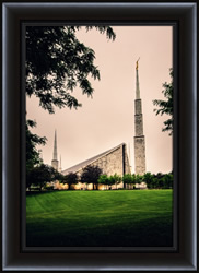 Chicago Temple Cloudy Skies - Framed - D-LWA-SJ-CTCS-7K00802