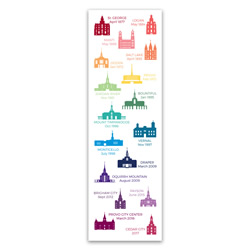 Utah Temple Tracking Bookmark