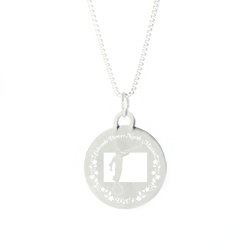 Colorado Mission Necklace - Silver/Gold colorado lds mission jewelry