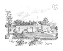 Columbus Ohio Temple - Sketch