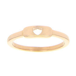 Shield Cutout Ring - Rose Gold ctr cutout ring, shield cutout ring, ctr bar ring