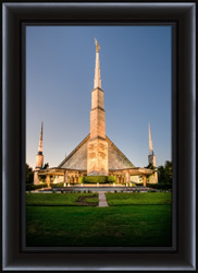 Dallas Temple Twilight - Framed