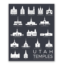 Utah Temples Poster - 5 Designs